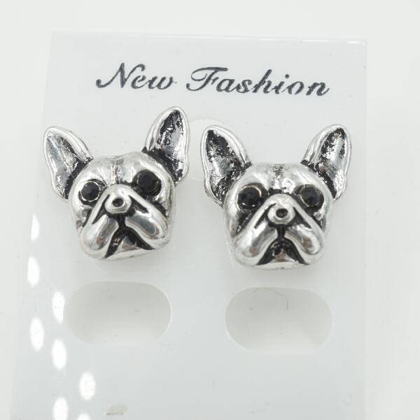 10pcs/lot 2015 New Arrival French Bulldog Puppy Face Stud Earrings Animal Jewelry for Dog Lovers for Women ED105