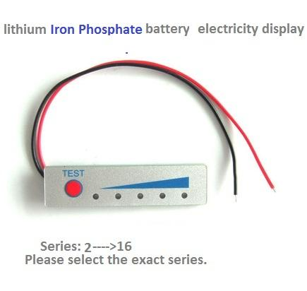 led light electricity voltage display board for lithium ion and lithium iron phosphate battery (optional series from 1 to 16)