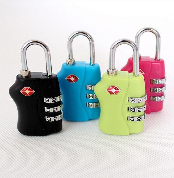 Travel basic TSA Lock Resettable 3 Digit Combination Travel Luggage Suitcase Code Lock Padlock New