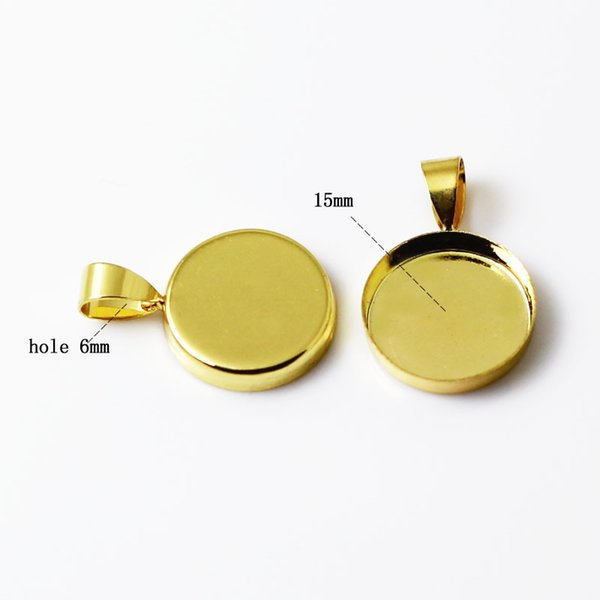 15mm gold plated