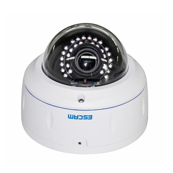"ESCAM HD3500V HD 1080P 1/3"" CMOS 2.8-12mm Varifocal 20M Day/Night Vision Onvif POE Waterproof Network Security IP Camera"