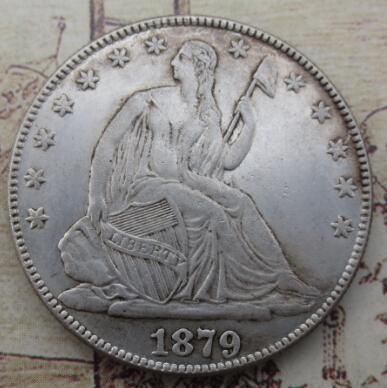 Hohe Qualität 1879 Seated Liberty Half Dollar kopie münzen Förderung Günstige Neupreis schöne wohnaccessoires Silbermünzen