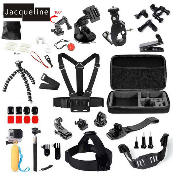 Freeshipping kits for Chest Mount Monopod Accessories Kit Case For GoPro hero 5 4 3 3 plus 3+ 2 1 /EKEN H9R H9 /SOOCOO
