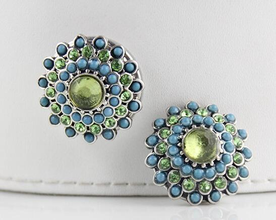 12pcs lot 18mm Faceted crystal snap button with High quality alloy rhinestone botton fit snaps jewelry partnerbeads com
