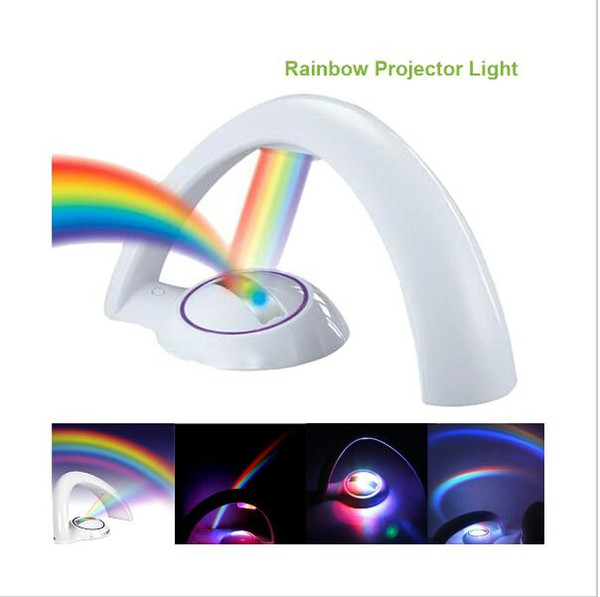 Colorful Rainbow Projector LED Night Light Lamp Amazing Nursery Room Decor Gift For Baby Kid Child Without Battery CE RoHS epistar chip LED