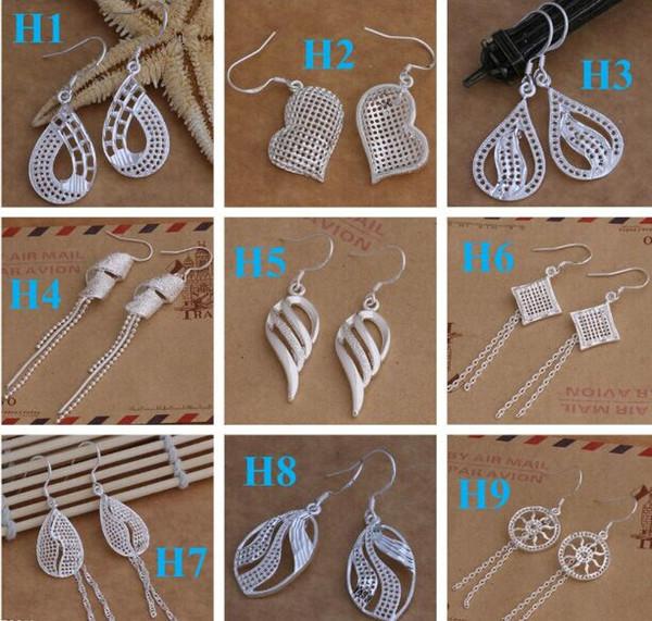 DangleChande ювелирные изделия Серьги лучший подарок маркировки 925 мода стерлингового серебра 925 Beautif серьги мотаться серьги Mix Order 1762