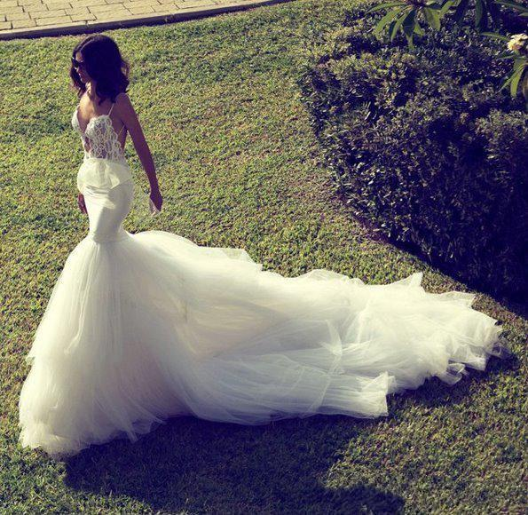2015 sexy Zahavit Tshuba new style lace tulle A-line wedding dresses spaghetti backless cathedral train autumn bridal gowns free shipping
