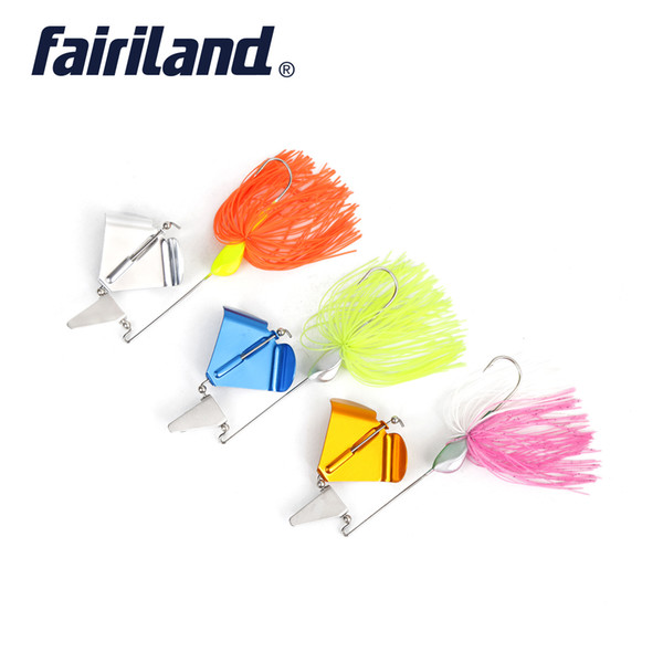 6pcs/lot spinner bait hooks 20g metal wobble fishing lures rotary tractor spinnerbaits sharp hook lead head buzzbait pesca thumbnail