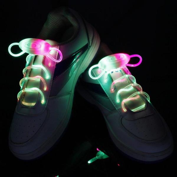 HOT LED Shoe Flashing shoelace light up Disco Party Fun Glow Laces Shoes 500pcs/lot=250pairs Halloween Christmas gift Free DHL FedEx