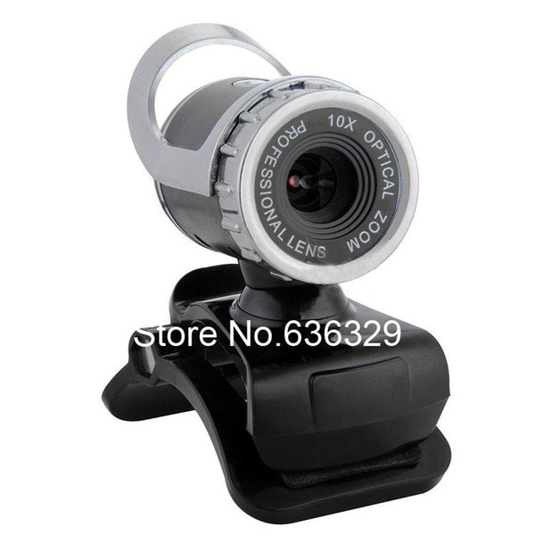 1080P 800W USB 2.0 HD Webcam Camera Web Cam Web Camera with MIC For Computer PC Laptop Silver Plastic Free Shipping