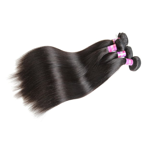 Remy Human Hair Bundles Brazilian Straight Virgin Hair Weaves Natural Color 4 Bundles 8-28 Inch DHgate Cheap Wet And Wavy Hair Extensions