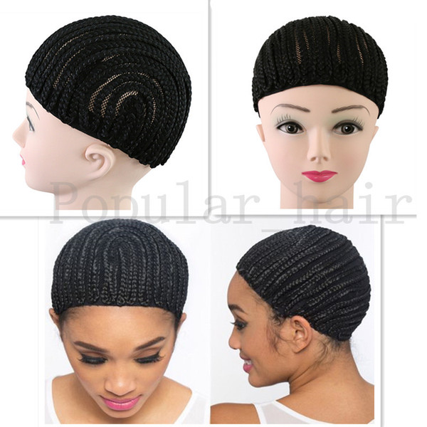 10pcs naturalBlack Cornrow Wig Caps For Weaving Lace Wigs Caps With Adjustable Strap,Cap Net Cornrows Braids Cap for Making Wig Good quality