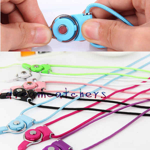 best selling Braided Lanyard Sling Finger Ring for Cell Phone Neck Fashion Universal Nylon Hanging Rope Strap for iphone 6 6s Case Cover ID Card Keychain