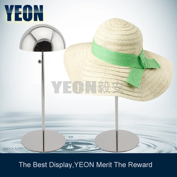 YEON stainless steel polish mirror hat display rack cap hanger for sale,5pcs/lot bulk order available