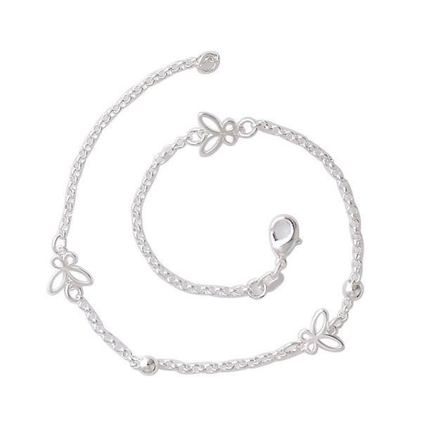 Free Shipping silver beautiful Butterfly Anklet Foot Chain Jewelry Anklets women cute Bracelet