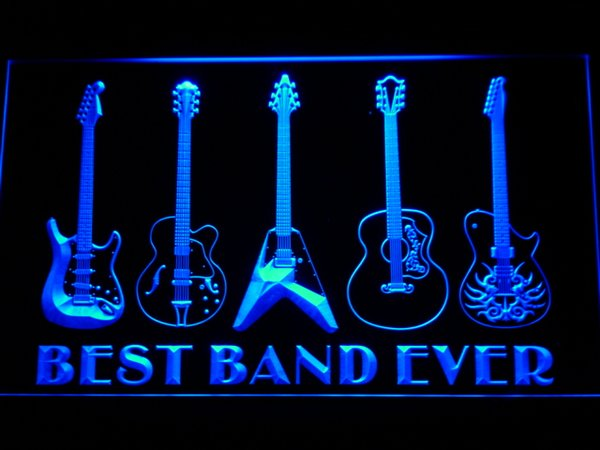 324 Best Band Ever Guitar Weapon Bar Beer LED Neon Light Sign Wholeseller Dropship Free Shipping 7 colors to choose