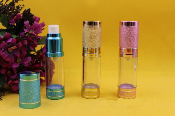 20pcs 15ml Empty Airless Vacuum Bottle ,15 ml airless Container, Refill Cosmetic Cream Lotion Serum bottles wholesale