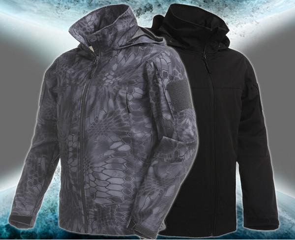 TYPHON TAD Shark Skin Coquille Souple Manteau Survêtement Veste À Capuche Imperméable À L'extérieur Chasse Camping Armée Vêtements De Plein Air Kryptek Style