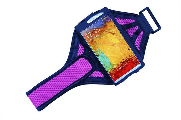 Wholesale-Running sport gym equipment Mesh Armband Bag for LG Optimus G Pro F240K Isai VL 5.5 Inch Jogging Arm Band arm cell phone holder