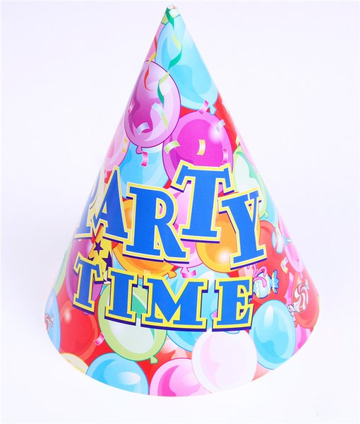 Cono-forma Bebé Cumpleaños Gorras Color de dibujos animados Papel Fiesta de cumpleaños Niños Sombrero Regalo de los niños Juguetes para la venta