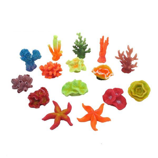 Coloré Artificielle En Plastique Aquarium Décoration Micro Miniature Paysage Résine Simulation Fleurs De Corail Ornements Livraison Gratuite ZA5456