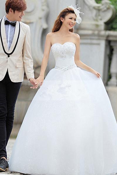 2015 горячие продажи новые фантастические бальное платье милая бисероплетение свадебные платья, свадебные платья, свадебные платья A0018