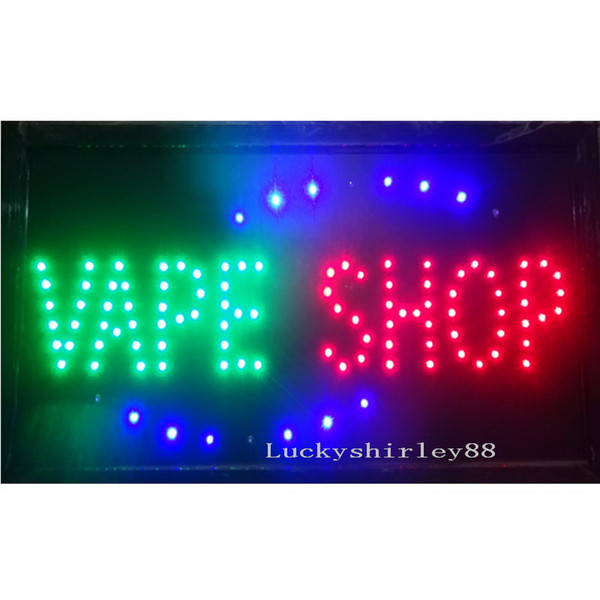 top popular Wholesale 2016 direct selling LED Vape Shop sign custom neon signs of electronic cigarettes shop open business 19*10 inch 2021