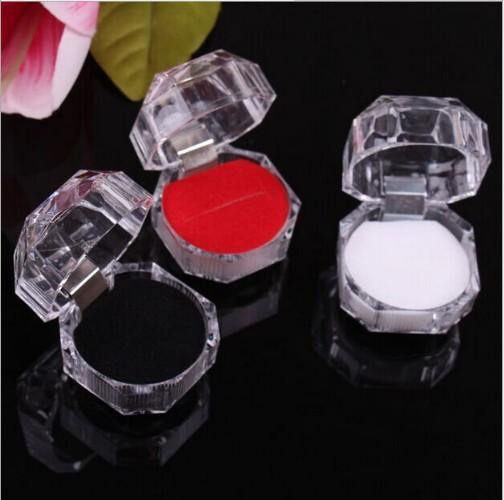 best selling Fashion Acrylic Jewelry Packing Box Womens Ornaments Case Ring Earring Stud Storage Jewels Gift Container