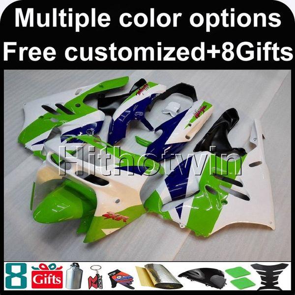 23colors+8Gifts WHITE GREEN 94-97 ZX 9R bodywork motorcycle Fairing For Kawasaki Ninja zx9r 1994 1995 1996 1997
