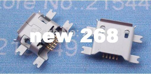 free shipping 1000pcs/lot Micro 5Pin USB Female Jack Sinking Plates Connector 1.17