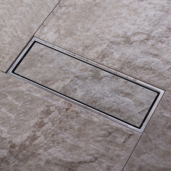 best selling Tile Insert Invisible two-sided Floor Waste Grates Bathroom Shower Drain 300x 110mm