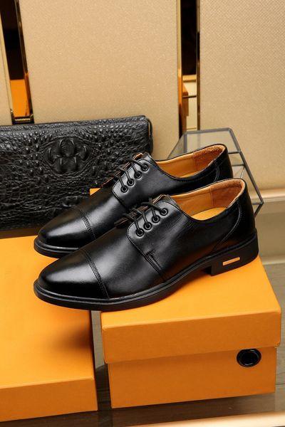 Hiver de luxe Hommes Oxfords Business Mariage Bureau Lowtop Dress Walking Conduite 100% Vache En Cuir En Cuir À Lacets Chaussures Boîte D'origine Taille 38-44