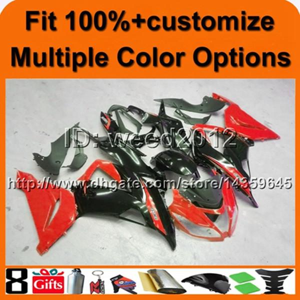 23colors + 8Gifts molde de inyección capucha de la motocicleta ROJA para KAWASAKI ZX6R 13-15 ZX6R 2013 2015 plástico carenado