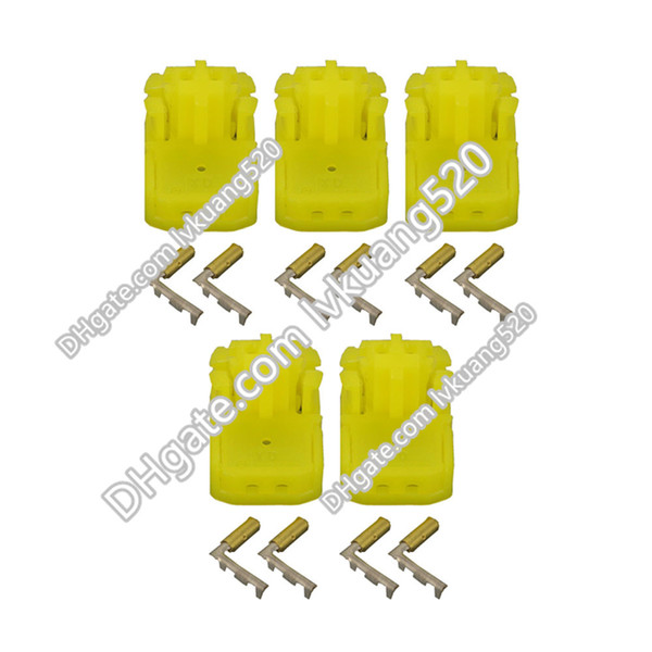 5 Sets 2 Pin 0.6mm yellow plug hole airbag airbag two mating connector terminals DJ7027Y-0.6-21