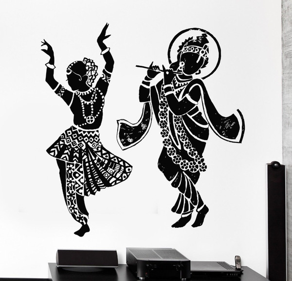 2016 Buddha Dance Indian Hinduism Wall Sticker Home Decor Wall Decal Elephant Ganesh Buddhism India Indian Namaste Buddha Om Yoga God