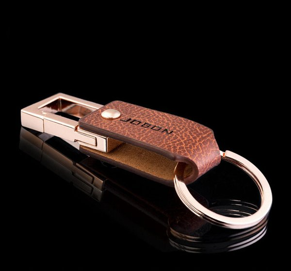 High-end Men leather Keychain Hot Sale Women Car Key Chain Key Ring high quality single ring KeyChain For Romantic Gift 17128