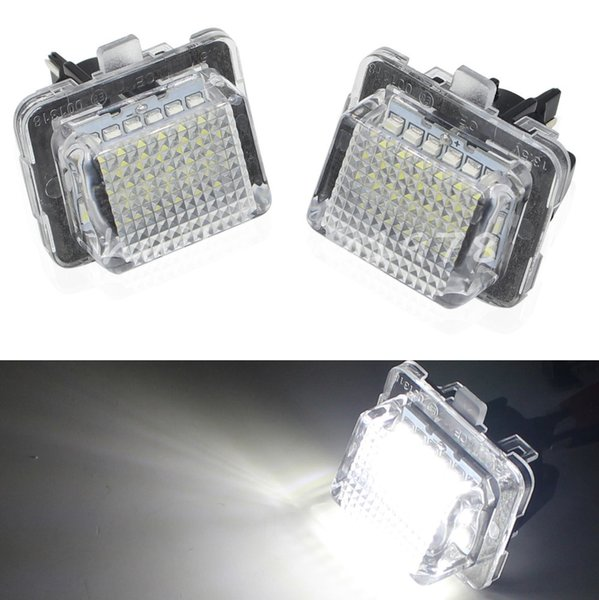Car Lights Car Light Assembly 2PCS Error Free Canbus Bright White 18 SMD License Plate Light Lamps For Mercedes C Class E