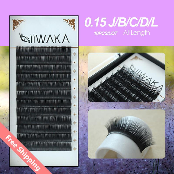 Wholesale-Charming Lashes handmade 10pcs eyelashes JB C D L Curl Individual Eyelash Extension Natural Long False Eye Lashes Silk Eyelashes