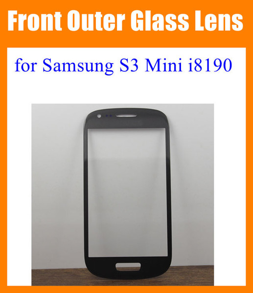 For Samsung Galaxy S3 Mini i8190 Front Outer Glass Lens Screen replacement Digitizer Touch Screen Cover Blue White blue black pink SNP012