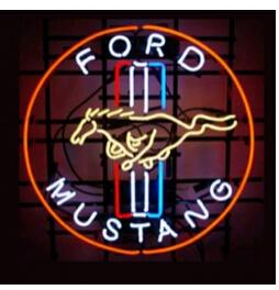 "NEW FORD MUSTANG NEON SIGN HANDICRAFT LIGHT BEER BAR PUB REAL GLASS TUBE LOGO ADVERTISEMENT DISPLAY NEON SIGNS 17""x14"""