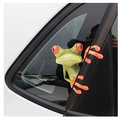 best selling FG1511 3D Cute Peep frog funny car stickers Truck Window Vinyl Decal Graphics YSH2