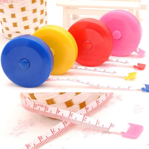 Retractable Ruler Tape Measure 60 inch Sewing Cloth Tailor 1.5M Plastic tailoring materials Measure Tools LZ0552
