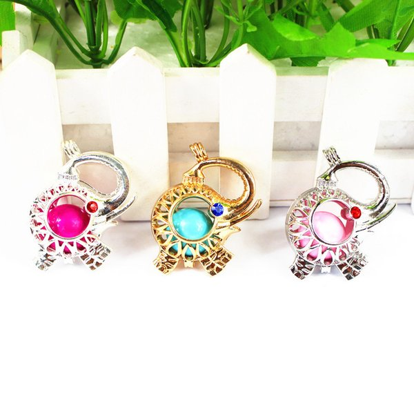 2015 Chimes Pregnancy Ball necklace Mexico Bola ball Bell Necklace pendant Cute Elephant Pendant Christmas Gift with chain and Pregnant Ball