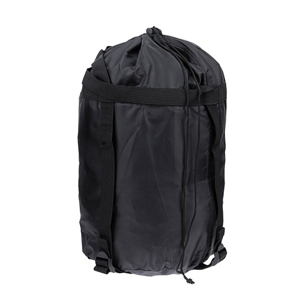 Wholesale-Waterproof Lightweight Nylon Compression Stuff Sack Bag Outdoor Camping Sleeping Small Bag Black Drawstring Bag 43 * 23 * 23cm