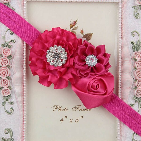 Elastic Hair Band Rose//Bow  Bridesmaid Many Beautiful Sparkly Colours