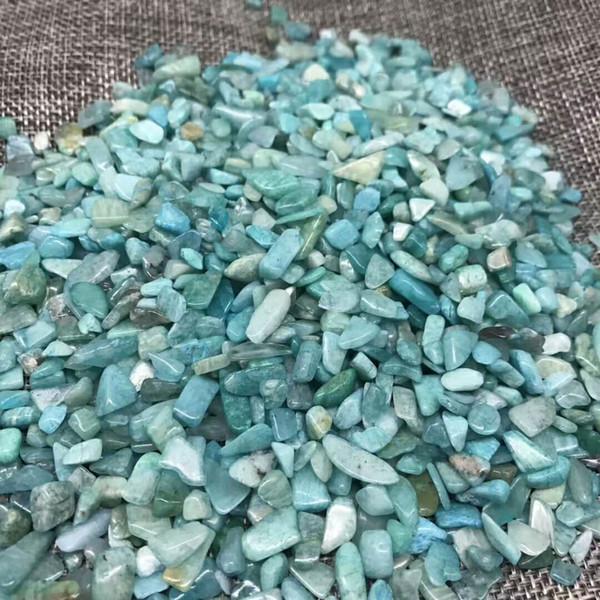 1Bag 100 g Natural amazonite Stone crysta quartz Stone crystal Tumbled Stone Irregular (Size: 5--20 mm, Color: blue)