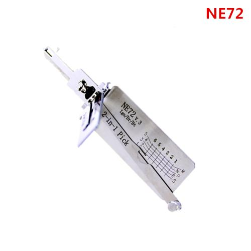 best selling Hot sale original NE72 2-IN-1 Lock pick,locksmith tool for ignition lock, door lock, and decoder , used for Peu-geot 206,207