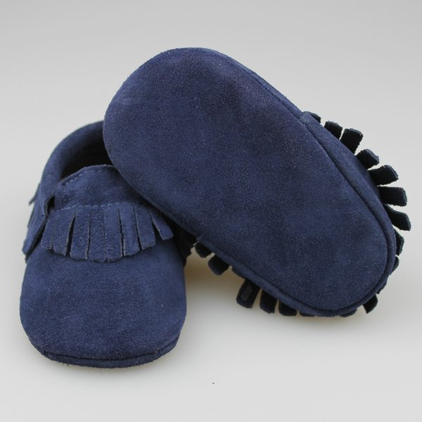 2016 New Leather Tassels Baby Moccasins Soft Baby Shoes Kids 100% Genuine Cow Leather Newborn Baby Prewalker good quality 100 Pairs DHL/EMS