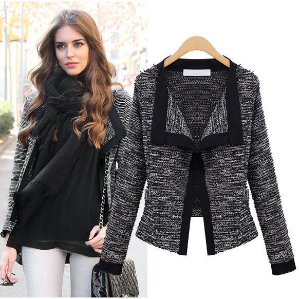 Coats For Women 2015 Autumn Womens Jacket Quality Linen Ladies Knitted Sweater Coat Fashion Cardigan Weaters For Women
