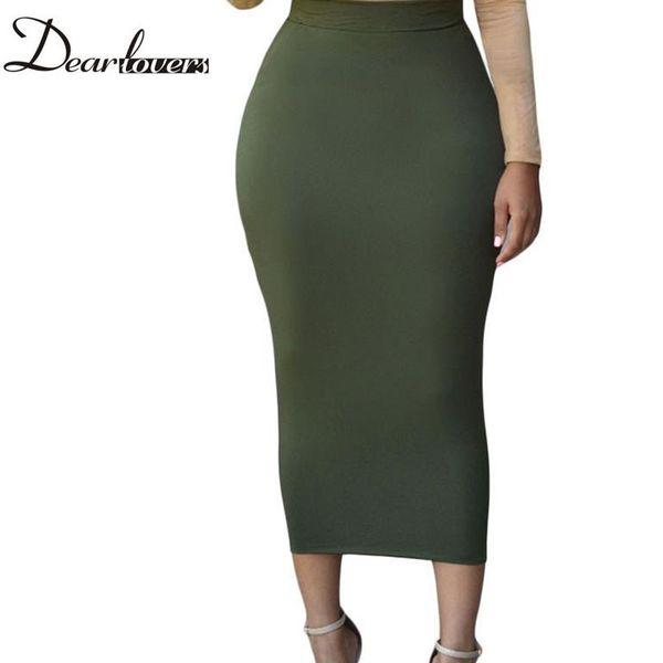 Wholesale- Dear lover Women Long Pencil Skirt Black High waist Bodycon Office Skirts Spring 2017 LC71188 Faldas Largas Mujer Casual